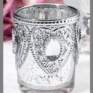 Set of 3 decorative votive candle holders